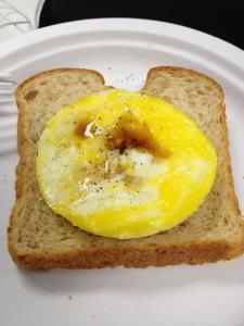 Ta- Da-! Eggs and toast!