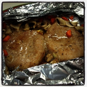 After- Tender and juicy pork tenderloin for lunch!