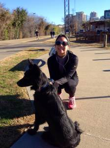After my 3.5 mile run with Finn!