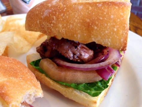 Pork Tenderloin on Baguette