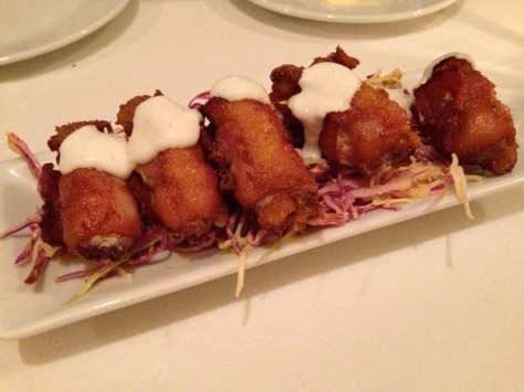 Bacon Wrapped Fried Oysters