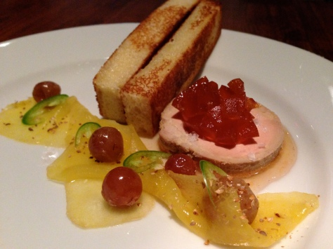 Foie Gras Torchon with grapefruit marmalade