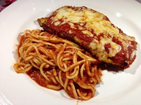 Chicken Parmasen and Spaghetti