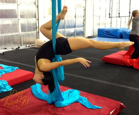 I  totally surprised myself here. Might be a basic move to other aerialists, but it was a huge accomplishment for me.